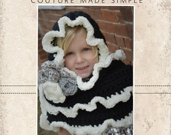 Etta Pocket Pixie Scarf Crochet PDF Pattern Toddler, Child and Tween/Adult sizes