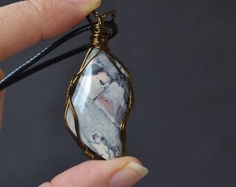 Purple Jasper Necklace, Healing Stone Necklace, Christmas Gifts Under 30, Purple Jasper Stone, Pink Purple Necklace, Diamond Shape Stone