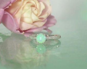 Opal Birthstone Ring, Natural Opal Ring, Opal Statement Ring, Unique Opal Ring, Opal Engagement Ring, Opal Silver Ring, Opal , Natural Opal