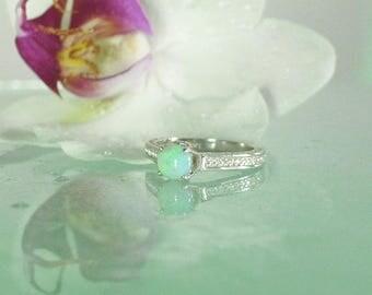 Opal Engagement Ring, Australian Opal Ring, Opal Ring, Opal Sterling Ring, Australian Opal, Opal Birthstone Jewelry, Opal Jewelry, Opal