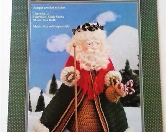 Kris Kringle Crochet Doll Pattern by Fibre Craft - 1992