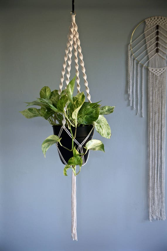 """Macrame Plant Hanger - 40"""" Knotted"""