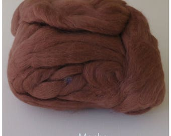 Mocha Brown Merino Wool  Fleece Roving for Felting or Spinning Australian Fleece
