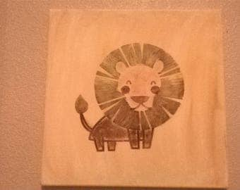 Lion Nusery Painting