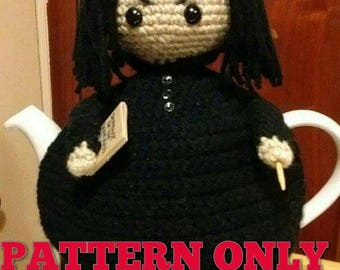 Professor Snape Inspired Tea Pot Cozy - PATTERN ONLY - Tea Cosy - Tea Cosie