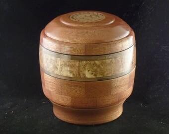 Mahogany/Black Ash Burl Pet Urn # 1062-65