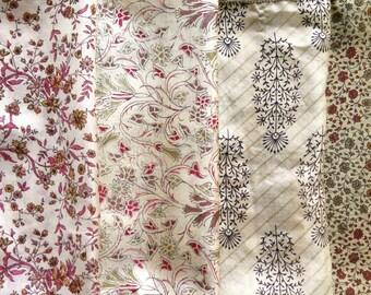 Fat Quarters, Silk Fabric, Sari Silk, FQ 172