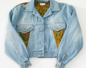 Vintage 80's Casual Buttoned Blue Denim Jacket Women's Large UK 16 18 / EU 44 46 / US 12 14