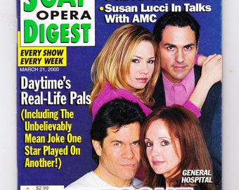 Soap Opera Digest Magazine March 21 2000, with Young and the Restless, Bold and the Beautiful, All My Children, GH