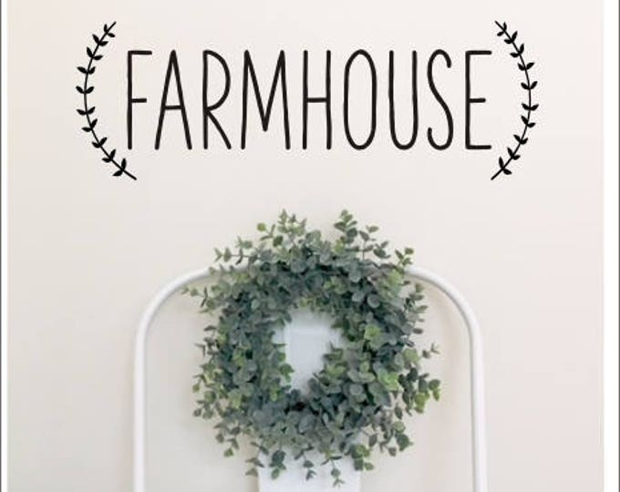 Farmhouse Decal Vinyl Wall Decal Rustic Handwritten Font Farmhouse Style Kitchen Living Room Vinyl Wall Decor Rustic Decor Simple Living