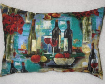 Wine Pillow - Accent Pillow - Mini Pillow -  Wine Lover Gift - READY to SHIP