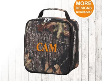 Camo Lunch Bag for Kids, Insulated Lunch Bag, Lunch Cooler, Personalized Lunch Bag for Boy, Monogrammed Lunch Bag, Lunch Bag for Children