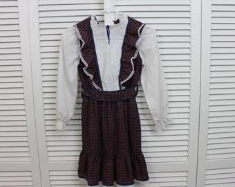 Vintage Girls Dress, KLL Size 10 Prairie Dress