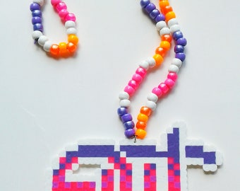 EDC Necklace - Ready to Ship - Kandi - Rave - Festival - Perler Necklace - EDCLV