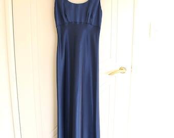 Vintage silky blue dress - Size 8