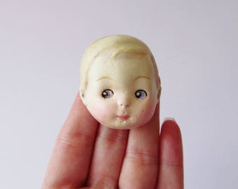Dottie's Doll Brooch Sammy - Paperclay Antique Doll Pin