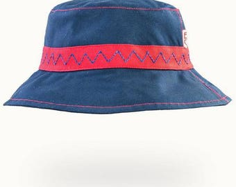 Navy/Red Summer Hat