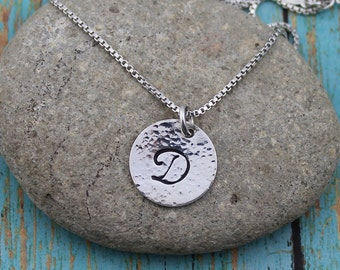 Script Initial Pendant, Personalized, 14K Gold-Filled or Sterling Silver, 16 - 24-Inch Bead or Box Chain, Casual, Everyday Necklace, Gift