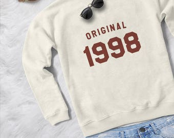 20th birthday gift for womens graphic sweatshirts birthday sweaters 1998 T shirts year of birth girlfriend gifts for her