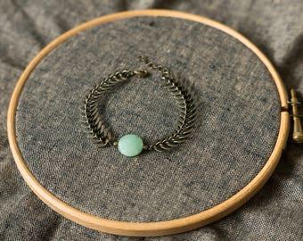SALE - Hellas Fishbone chain Bracelet