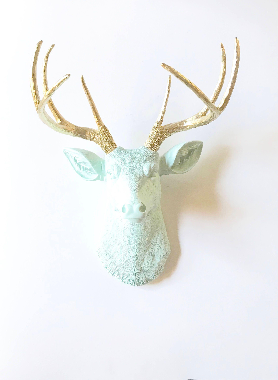 bronze d stag wall catalog index head cor rustic bella decor zia