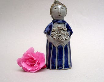 Ceramic Sculpture,Flower Girl , Bridesmaid Gift ,  Art and Collectibles
