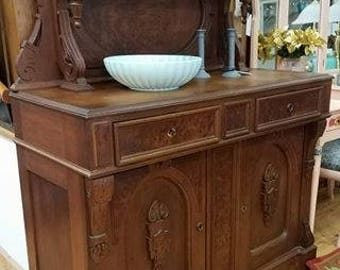 Victorian Buffet Table, Antique Furniture, Walnut Buffet Table, Painted  Furniture, Vintage Sideboard
