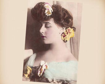 Actress Gabrielle Robinne New 4x6 Vintage Card Image Photo Print RO05