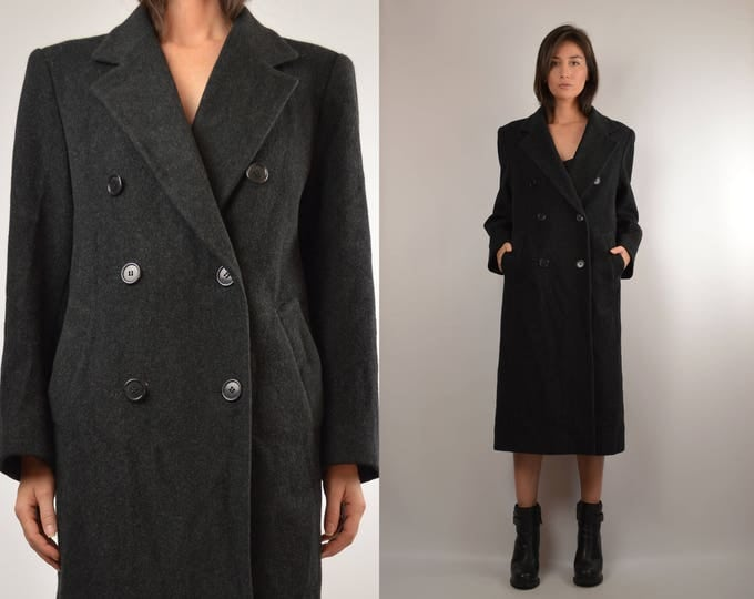 Vintage Gray Wool Winter Coat