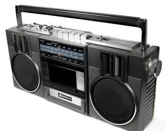 Hitachi TRK-6801E Vintage 1980s Radio Cassette Recorder Boombox Ghetto Blaster