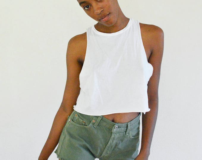 LEVI'S 501 Green Jean Shorts