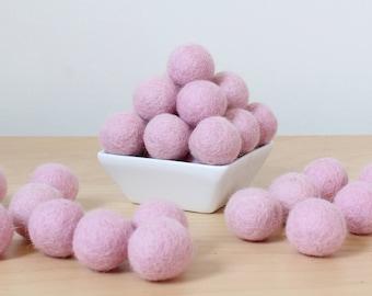 Felt Balls: BABY PINK, Felted Balls, DIY Garland Kit, Wool Felt Balls, Felt Pom Pom, Handmade Felt Balls, Pink Felt Balls, Pink Pom Poms