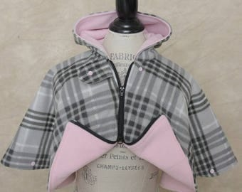 Car Seat Poncho - Girl's Car Seat Poncho - Size 3T Poncho with Extra Warmth - Fleece Carseat Poncho - Toddler Poncho - Infant Poncho