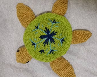 Crochet Sandy Sea Turtle Amigurumi PATTERN