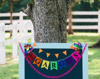 TEACHER NAME BANNER in rainbow colors / Classroom decoration / Teacher name sign / Classroom decor / Personalized gifts / Gifts for teachers
