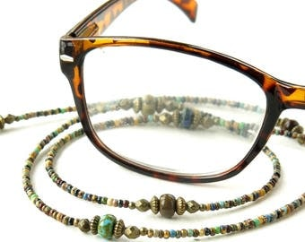 Glasses chain - beaded eyeglass lanyard necklace sunglasses holder