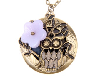 Medallion Necklace owl
