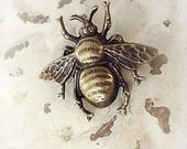Bumble Bee Pin, Bee Pin, Mori Girl Bee Brooch, Shabby Chic Pin, Antique Brass Bee Pin, Bertha Louise Designs