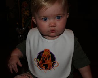 Babies and Toddler Applique Fall/Halloween 100% Cotton 2 Ply Bib