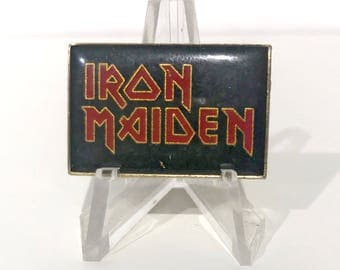 True Vintage IRON MAIDEN Logo Enamel Pin