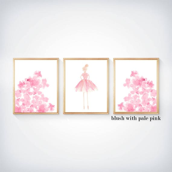 Prima Ballerinas, Set of 3 - 8x10 Girls Bedroom Prints