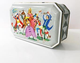Vintage 1960s Peek Frean & Co Masquerade, Nursery Rhyme Biscuit orToffee Tin