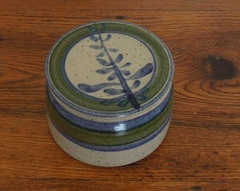 Vintage Stoneware French Butter Keeper Studio Art Pottery Signed