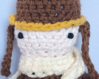 Amelia Earhart Crocheted Stuffed Doll - Amelia Earhart Amigurumi Aviator