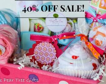 COMPLETE Baby Girl Baby Shower Gift Basket, Baby Gift Basket