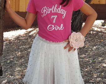 birthday girl, birthday shirt, kids birthday shirt, bday shirt, custom birthday shirt