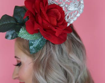 Large Red Rose Hair Clip
