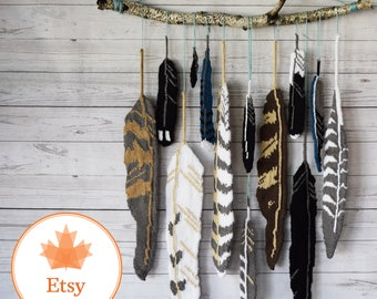 """DIY Knitting PATTERN - Knit Feathers of Canada  Size: 12-24"""" approx. (2017008)"""