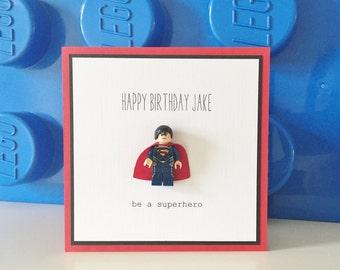 Personalised Lego Birthday Card