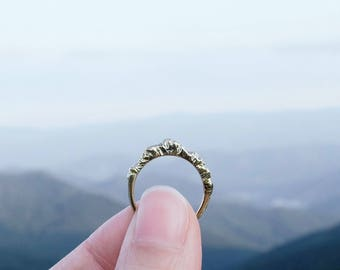 Mountain Jewelry Silver Mountain Ring Silver Nature Ring Inspiration Jewelry Graduation Ring (Tall Version)